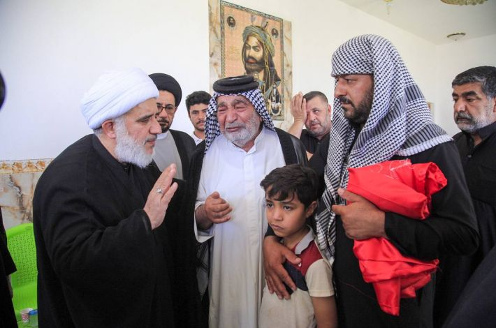 The delegation of the al-Abbas's (p) holy shrine went to Nasiriyah to extend its condolences to the families of the victims of the fire. - A delegation from the Holy Shrines of Imam al-Hussayn and al-Abbas (peace be upon both of them) arrived in Dhi Qar Governorate, to offer condolences to the victims' families of the fire incident that ...