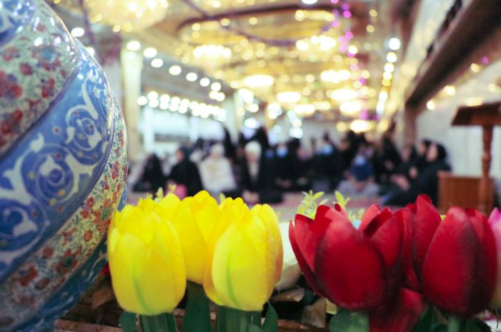 Women celebration of the 9th Rabi' Awwal. - The Hussayni Rhetoric Division at the al-Abbas's (p) holy shrine organized a joyous celebration for women to celebrate the anniversary of the first day of Imamate of Imam al-Mahdi (may Allah hasten hi...
