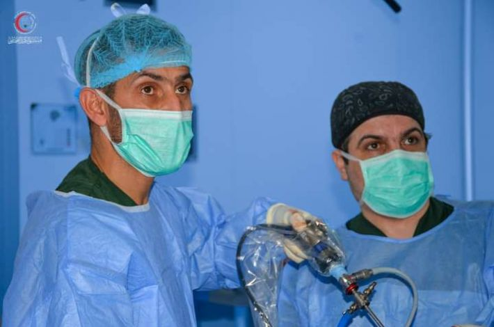 A surgery to remove a tumor in the knee of a 30-year-old patient at al-Kafeel Hospital. - A medical team at Al-Kafeel Specialist Hospital of the al-Abbas's (p) Holy Shrine announced its success in the operation of removing a tumor from the knee of a 30-year-old patient using the endoscopic...