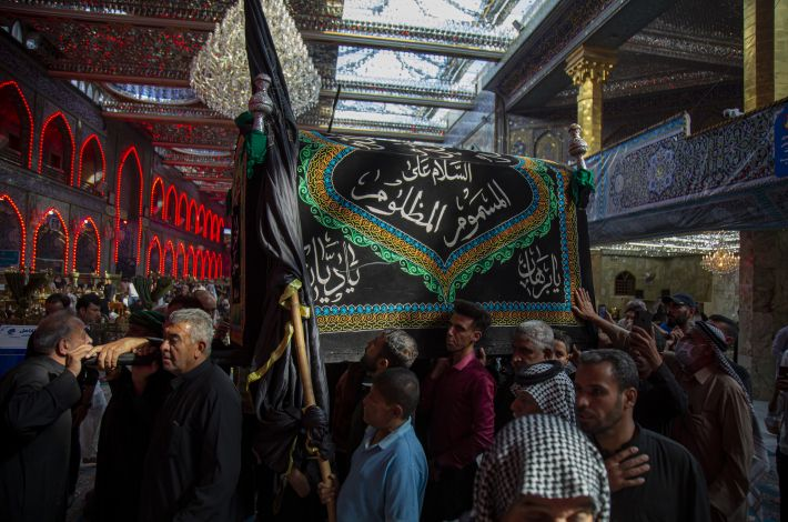Condolences' Processions commemorate the martyrdom anniversary of Imam al-'Askari (peace be upon him) in Karbala. - Since early hours of this day of 8th Rabi' Awwal 1443 AH, the condolences' processions of Karbala marched to the shrines of Imam al-Hussayn and his brother Aba al-Fadl al-Abbas (peace be upon both of ...