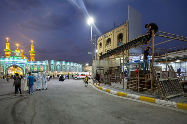 Karbala processions prepare for the holy month of Muharram.