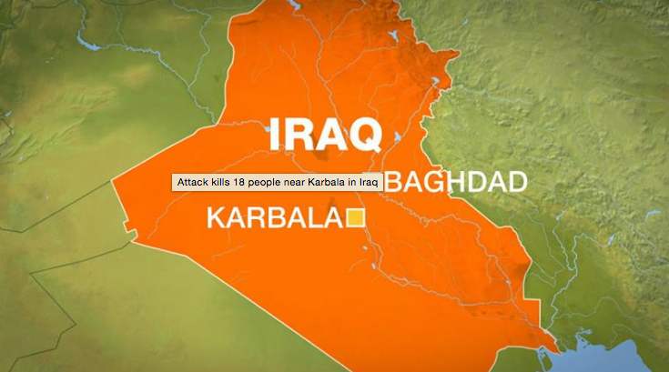 ISIS Attack in Karbala Town - 18 Shaheed in attack